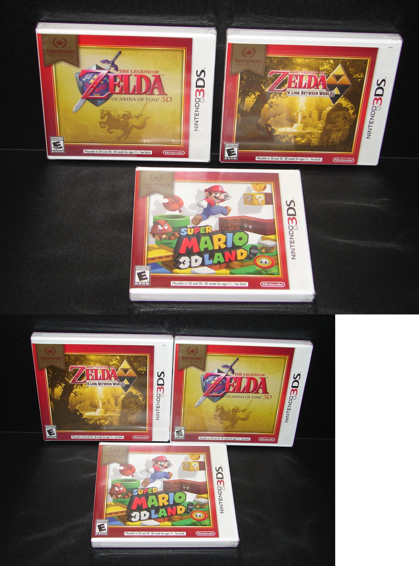 Wholesale Lots 48749: Lot Of 3 Brand New Nintendo 3Ds Games