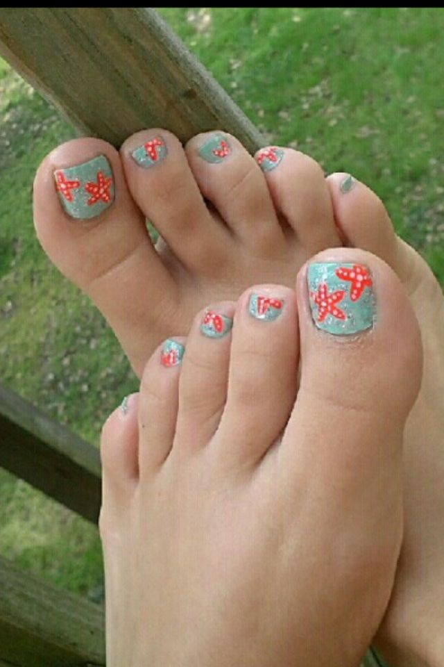 Starfish nails. - Starfish Nails. Nail Ideas Pinterest Starfish, Pedicures And