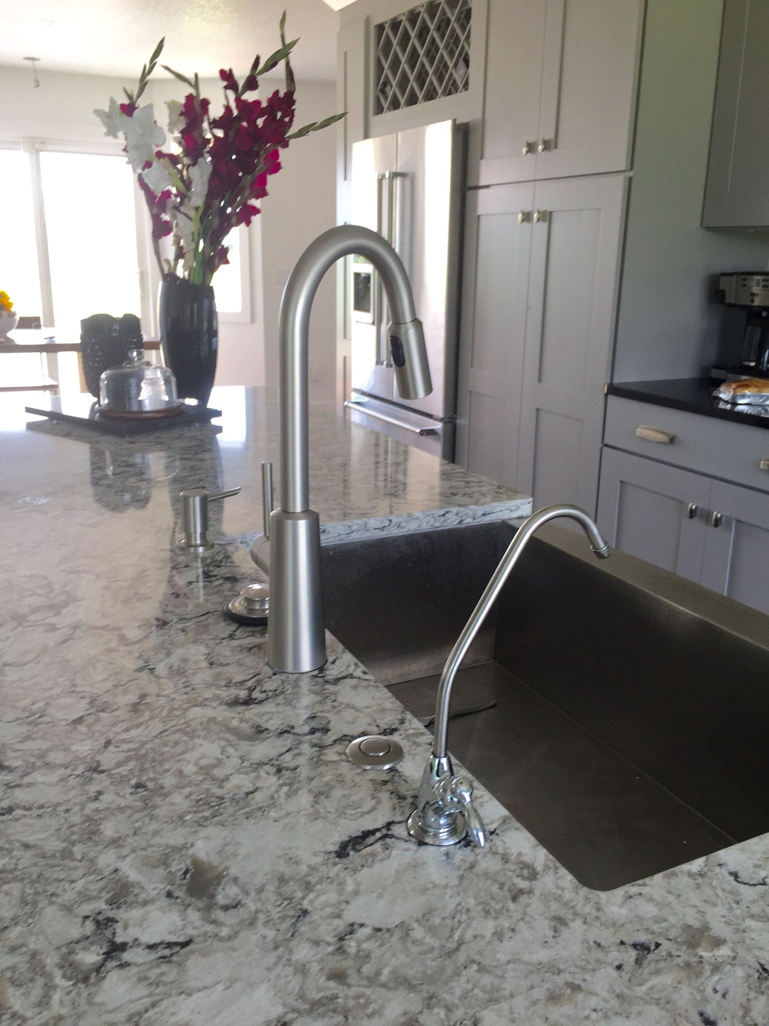 Stainless steel farm house sink Cambria counter tops and
