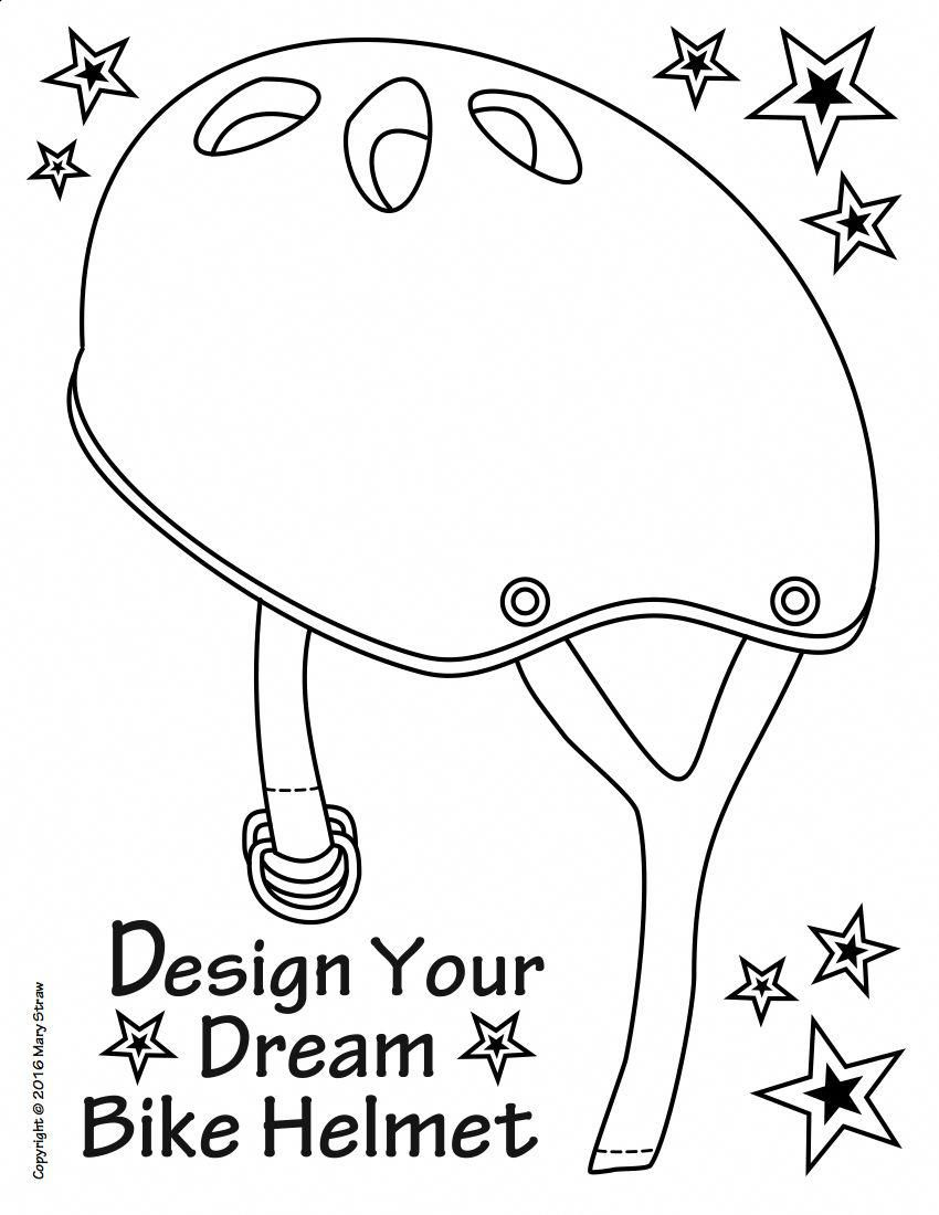 Art Enrichment Everyday April Activity Coloring Pages Bike Craft