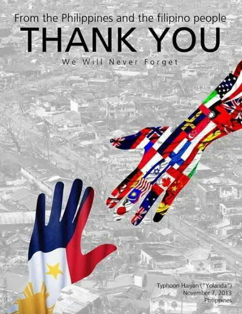 From The Philippines And The Filipino People Thank You