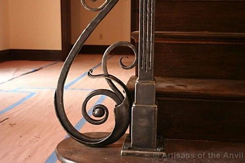 Railing Post Base Dinky Says This Is So Beautiful Schmiedekunst Metall Treppe