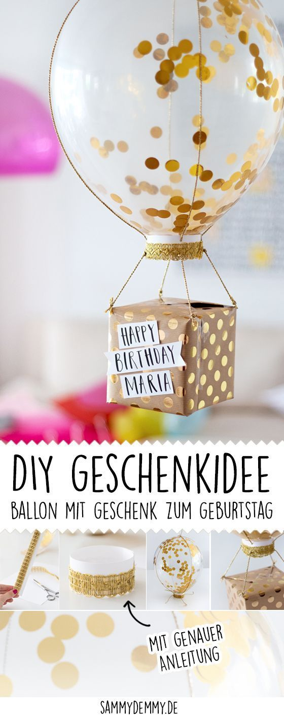 Geburtstagsgeschenke selber machen drei diy ideen cositasbonitasdiy pinterest diy - Deko 18 geburtstag selber basteln ...