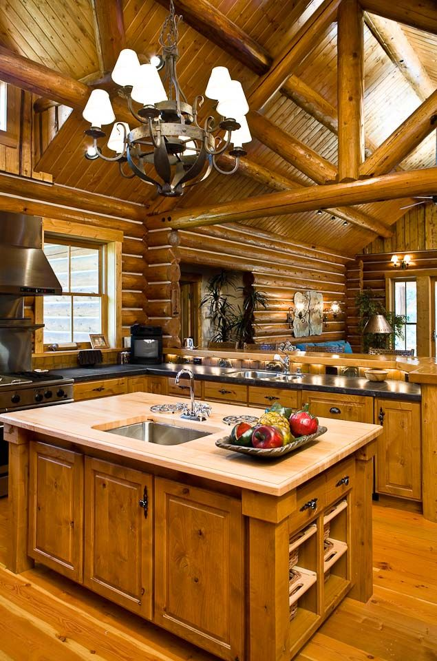 0661-Charming Log Features. Rocky Mountain Log Home