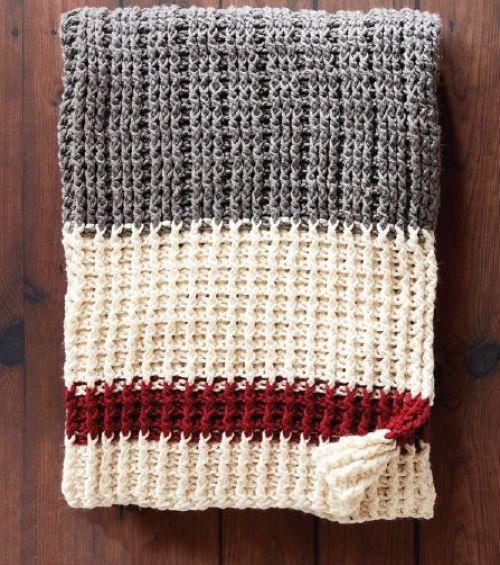 Lumberjack Crochet Throw Free Pattern Beautiful Skills Crochet