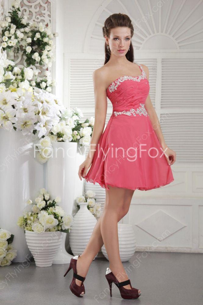 Peach Color Cocktail Dresses