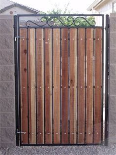 Metal And Wood Gate Plans Google Search Wood Gate Iron Garden