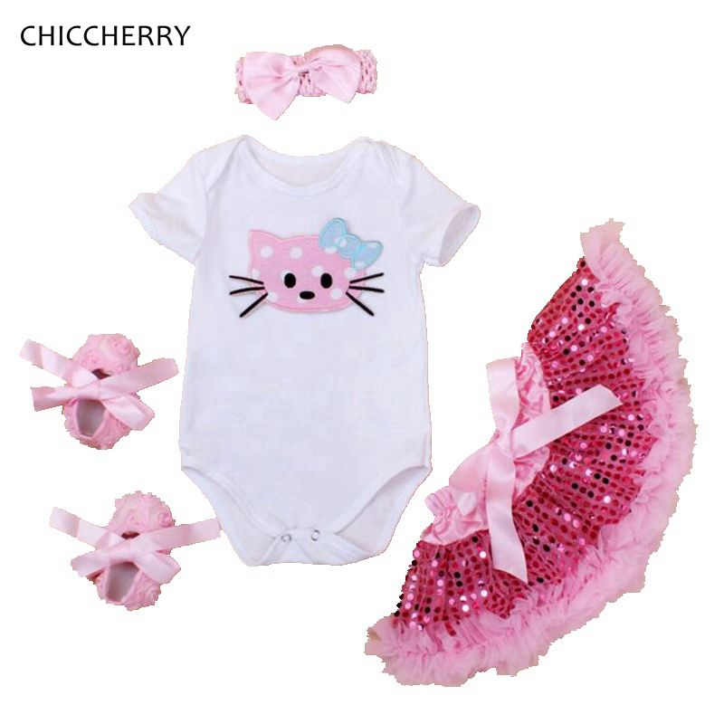 Cute Unicorn Ponytail Baby Girl Romper Bodysuit Jumpsuit Birthday Outfit Clothes