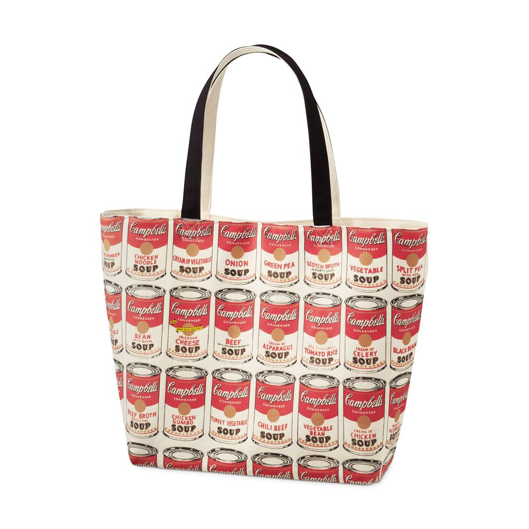 Uniqlo Andy Warhol Soup Can Tote Bag In Color Cheap Canvas Bags Artistic Purse Bags