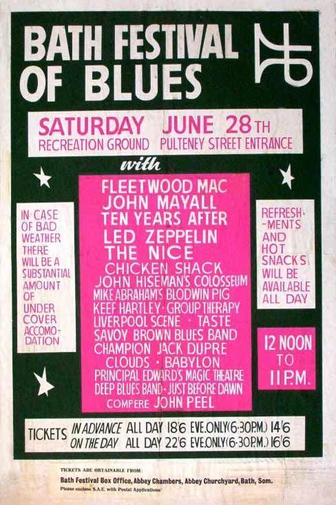 The 1969 Bath Festival Of Blues What A Line Up Blues