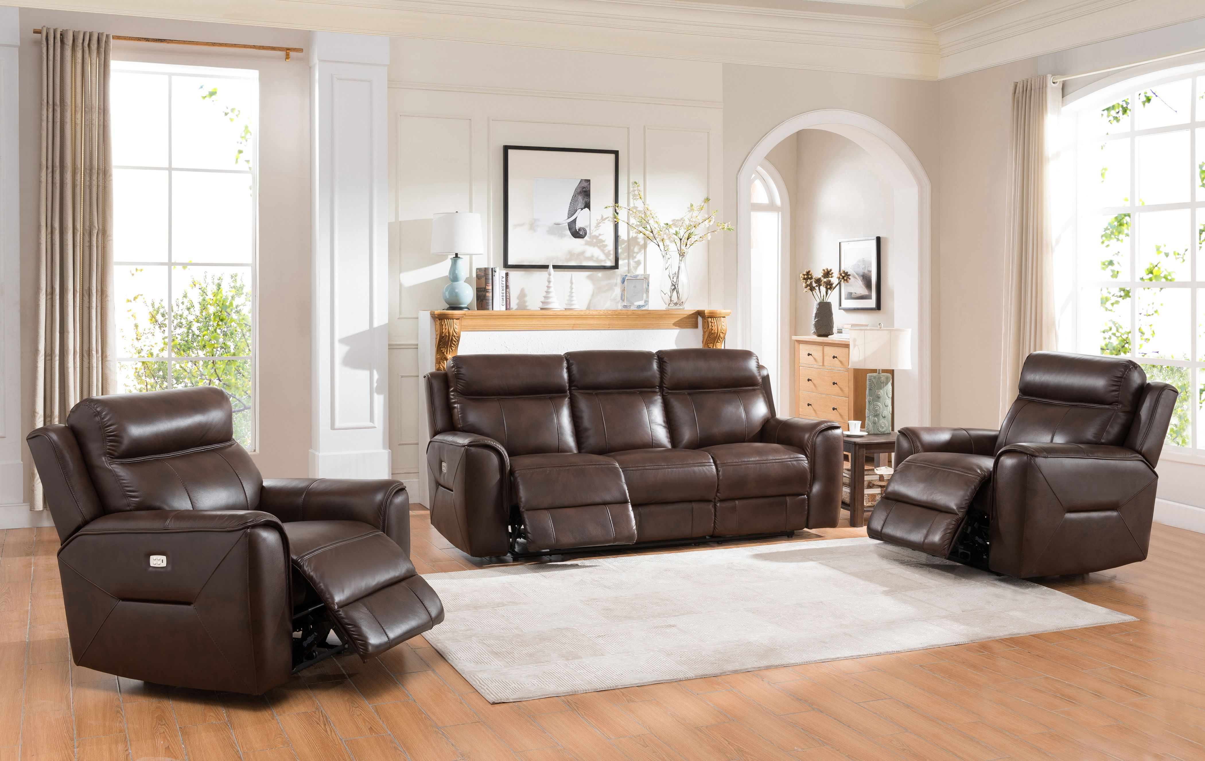 The Lacrosse Furniture 9555 Taos Canyon Leather Motion Group Dual Motor Power Recline Provides The Ability To Both Reclin Power Reclining Sofa Home Furniture #taft #furniture #living #room #set