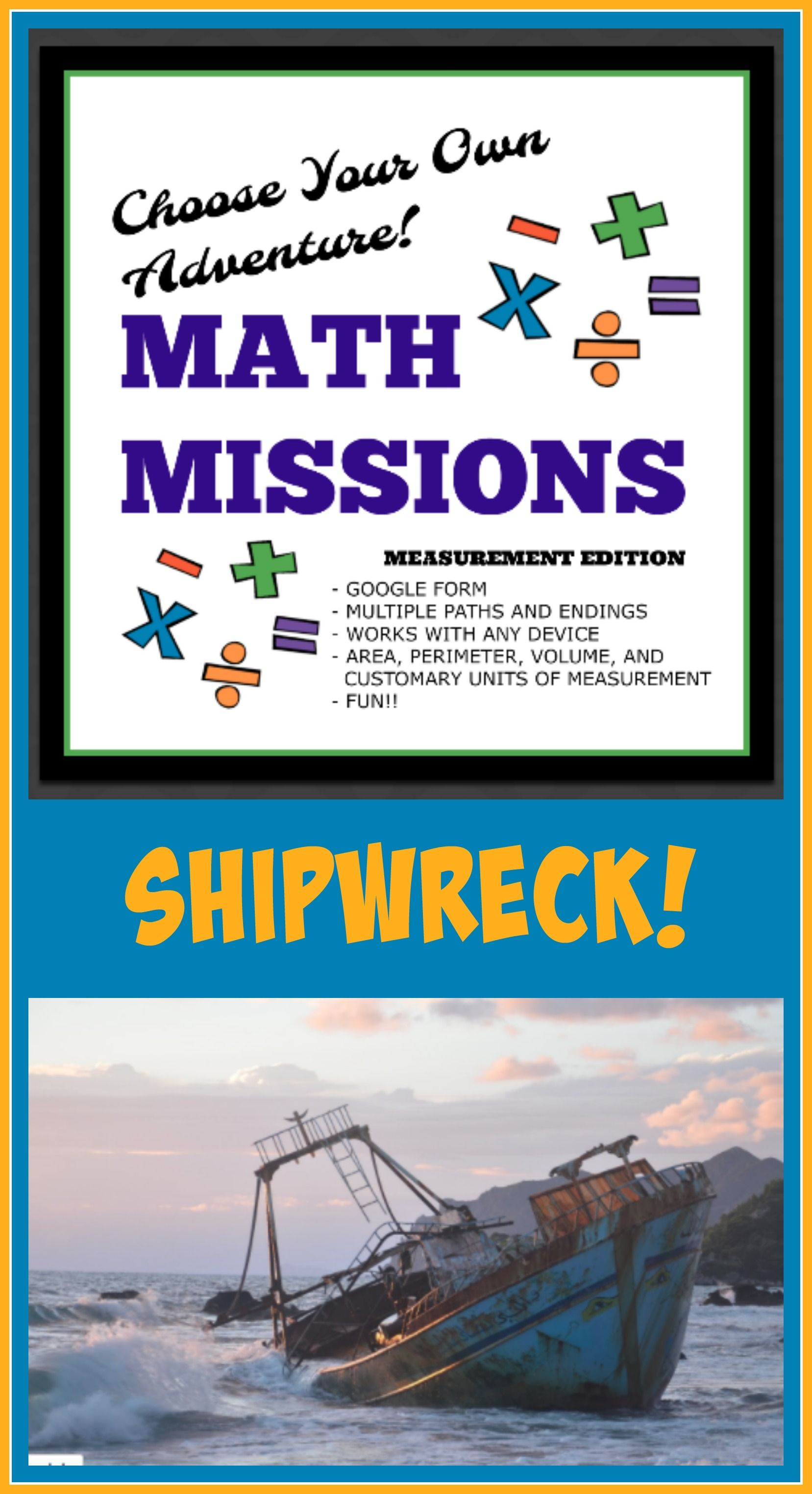 Math missions measurement edition move forward math and students choose your own adventure math this is a google form adventure for the concept of fandeluxe Images
