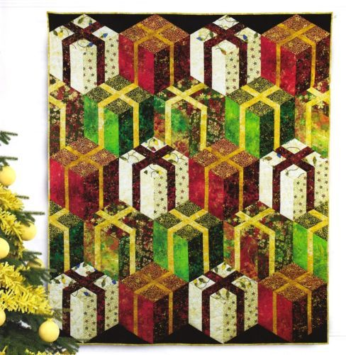2 Quilt PATTERNS ~ Stacked Presents + Tropical Tree Banner ~ from ... : quilting for christmas magazine - Adamdwight.com