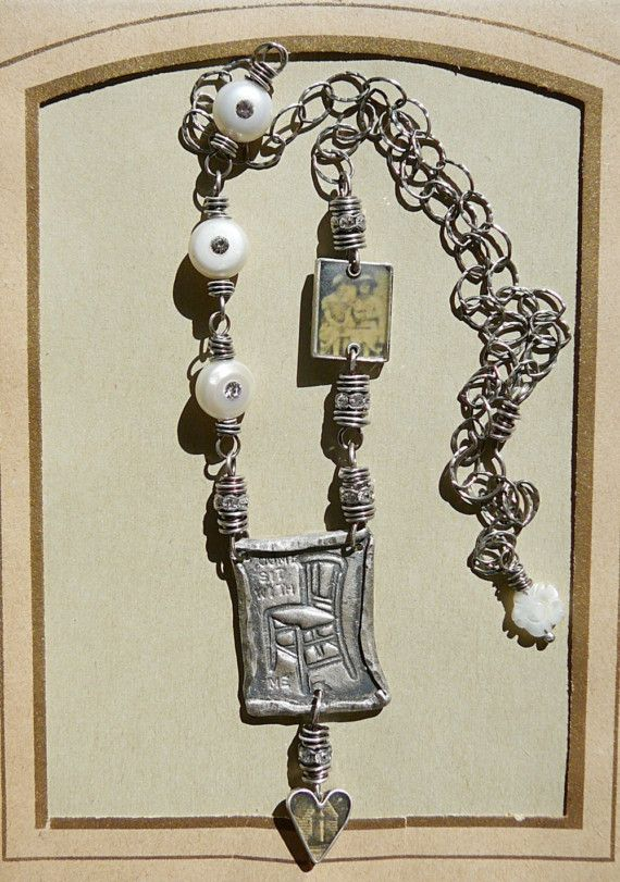 Come Sit with Me necklace by ninabagley on Etsy