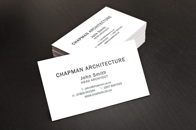 A simple and minimalist business card design that will ...