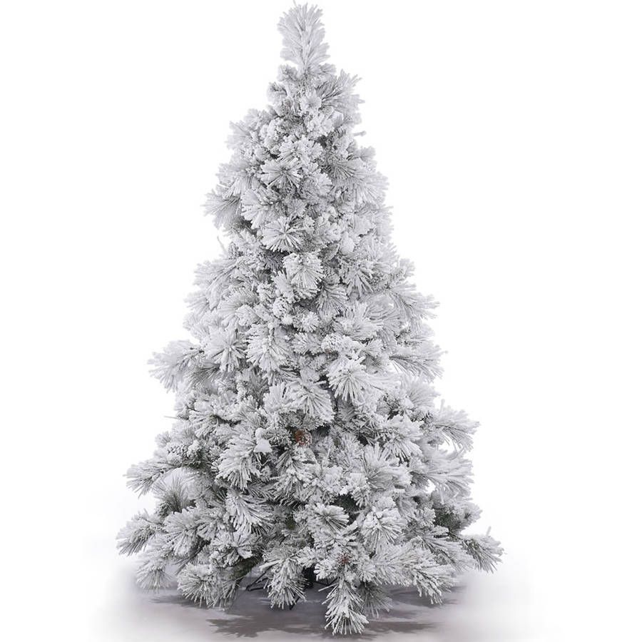 Holiday Time Artificial Christmas Trees Pre Lit 7 5 Flocked Artificial Tree Clear Lights Walmart Com Vickerman Christmas Tree Pre Lit Christmas Tree Led Christmas Tree