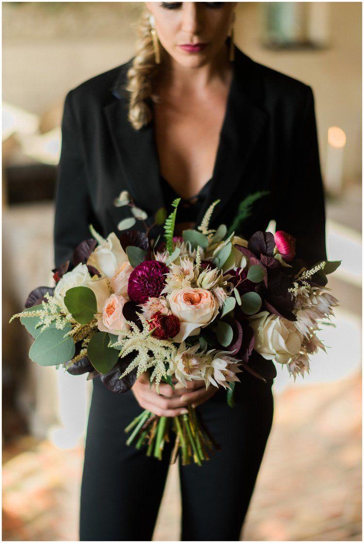 Same Sex Wedding Inspiration | Black suits, Floral designs and Wedding