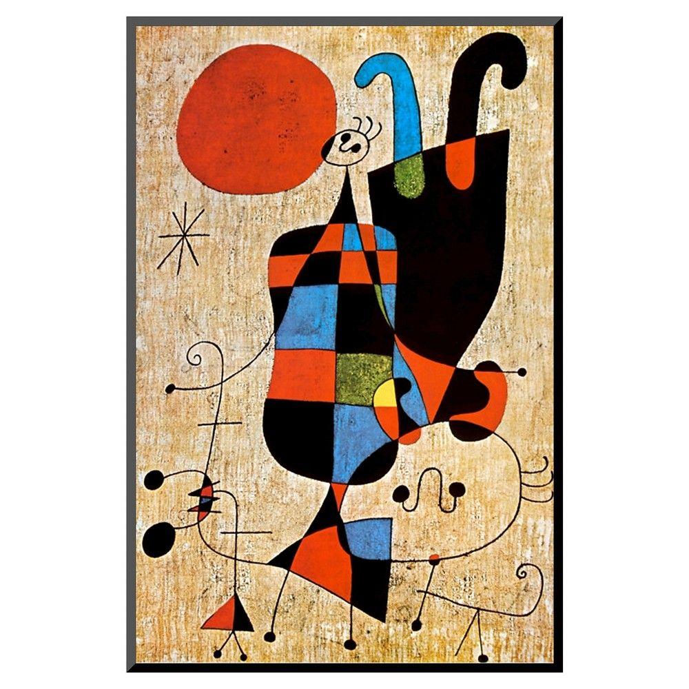 Art.com Upside-Down Figures by Joan Miró - Mounted Print,