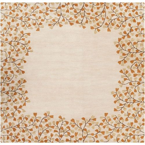 Athena Ivory and Rust Square: 9 Ft 9 In Rug - (In Square)