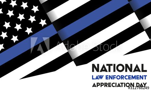 NATIONAL LAW ENFORCEMENT APPRECIATION DAY (L.E.A.D.). January 9. Poster, card, banner, background, T-shirt design. - Buy this stock illustration and explore similar illustrations at Adobe Stock