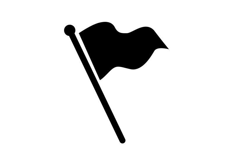 Fluttering Flag Vector