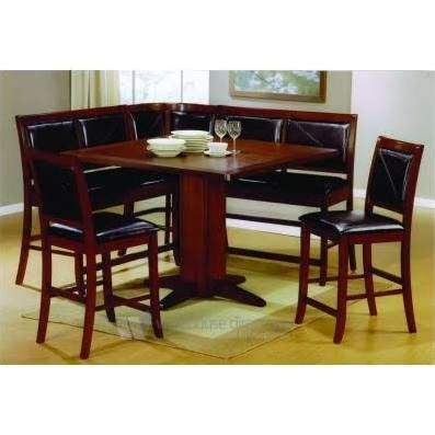 Coaster 6pc Counter Height Corner Dining Table Breakfast Nook Set Counter Height Dining Table Corner Dining Table Counter Height Dining Table Set