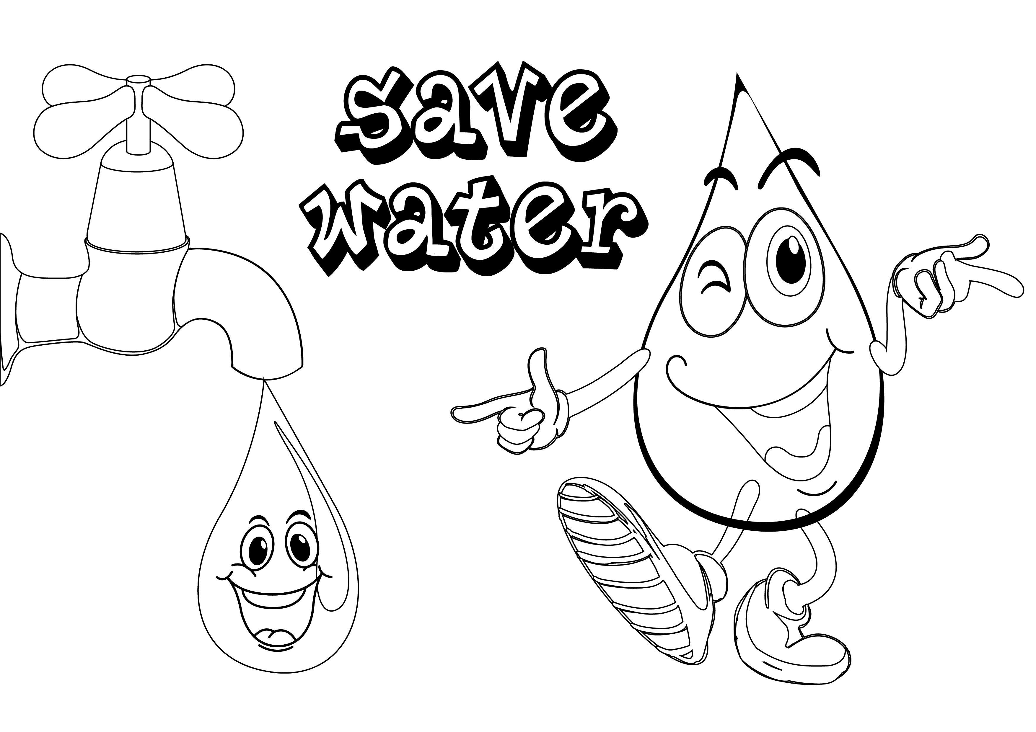 Printable Water Coloring Pages Free Earth