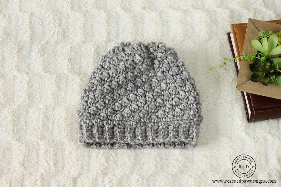 Emily Diagonal FREE Beanie Crochet Pattern | Lana