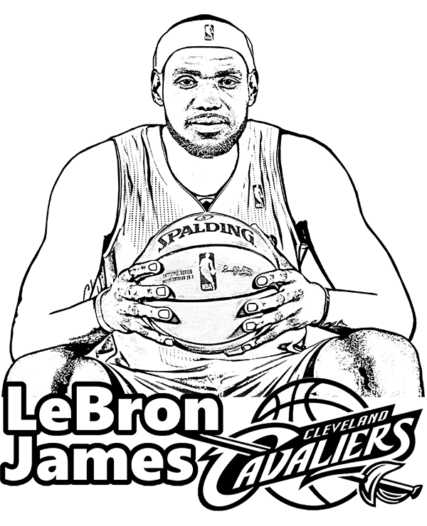 Free Lebron James Coloring Page Basketball Player Lebron Basketball Cavaliers Coloringpage Coloringshe Lebron James Sports Coloring Pages Coloring Pages