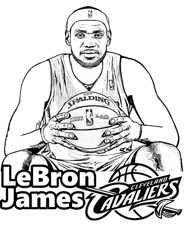Free LeBron James coloring page basketball player. #LeBron