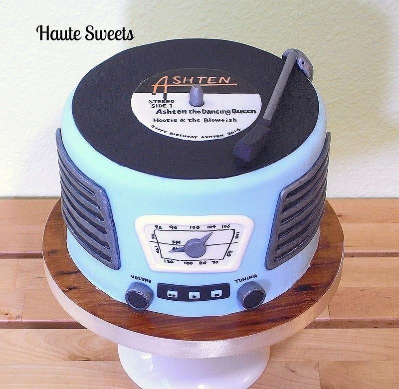 Retro Record Player Birthday Cake Cake By Hiromi Greer