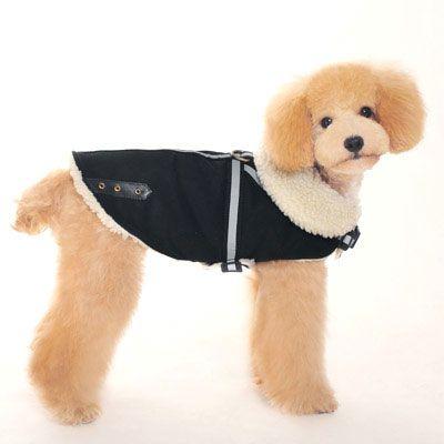shearling-reflective-dog-coat-black-1.jpg (400×400) | I want to ...