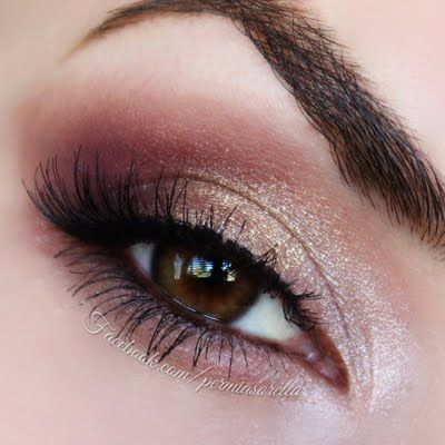 Eye Makeup Inspiration: Golden Cranberries by Kathryn P #eye #makeup #neutral #eyeshadow - Click through for step by step how to.