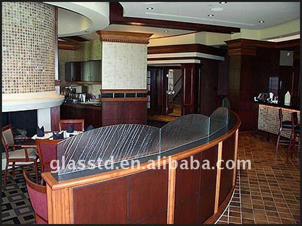 5mm frosted glass partition for restaurant, View glass