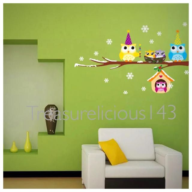 Art wallpaper wall sticker for Kid room windows design removable Photo tree