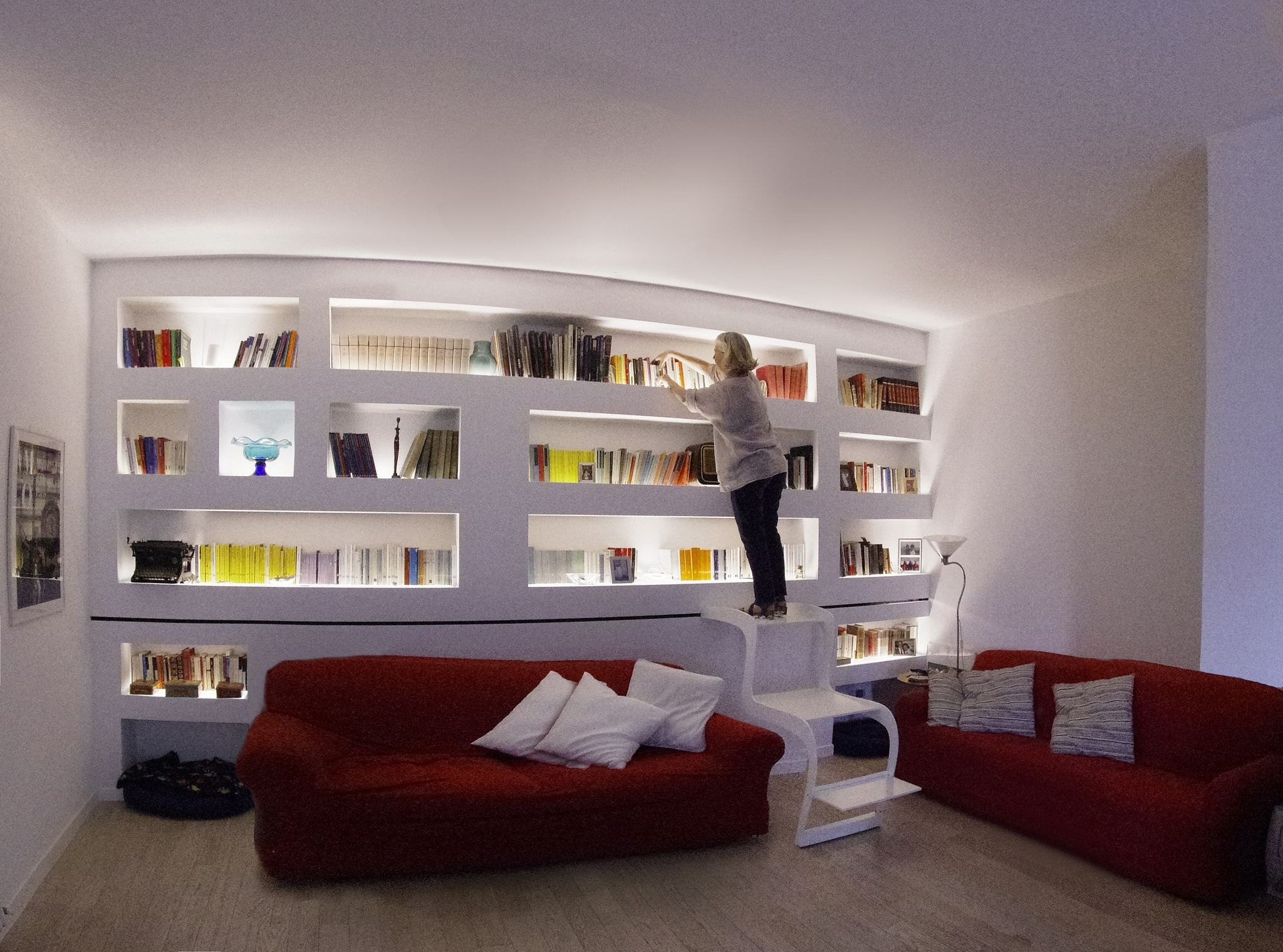 Morsab000 shelves and interiors - Parete libreria cartongesso ...