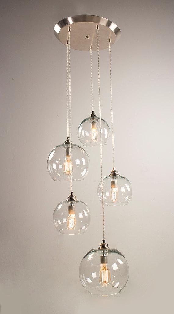 5 Poorts Luifel Opknoping Lichtpunt Geborsteld Nikkel Finish Hangende Lichten Eetkamer Lamp Design Slaapkamer Verlichting