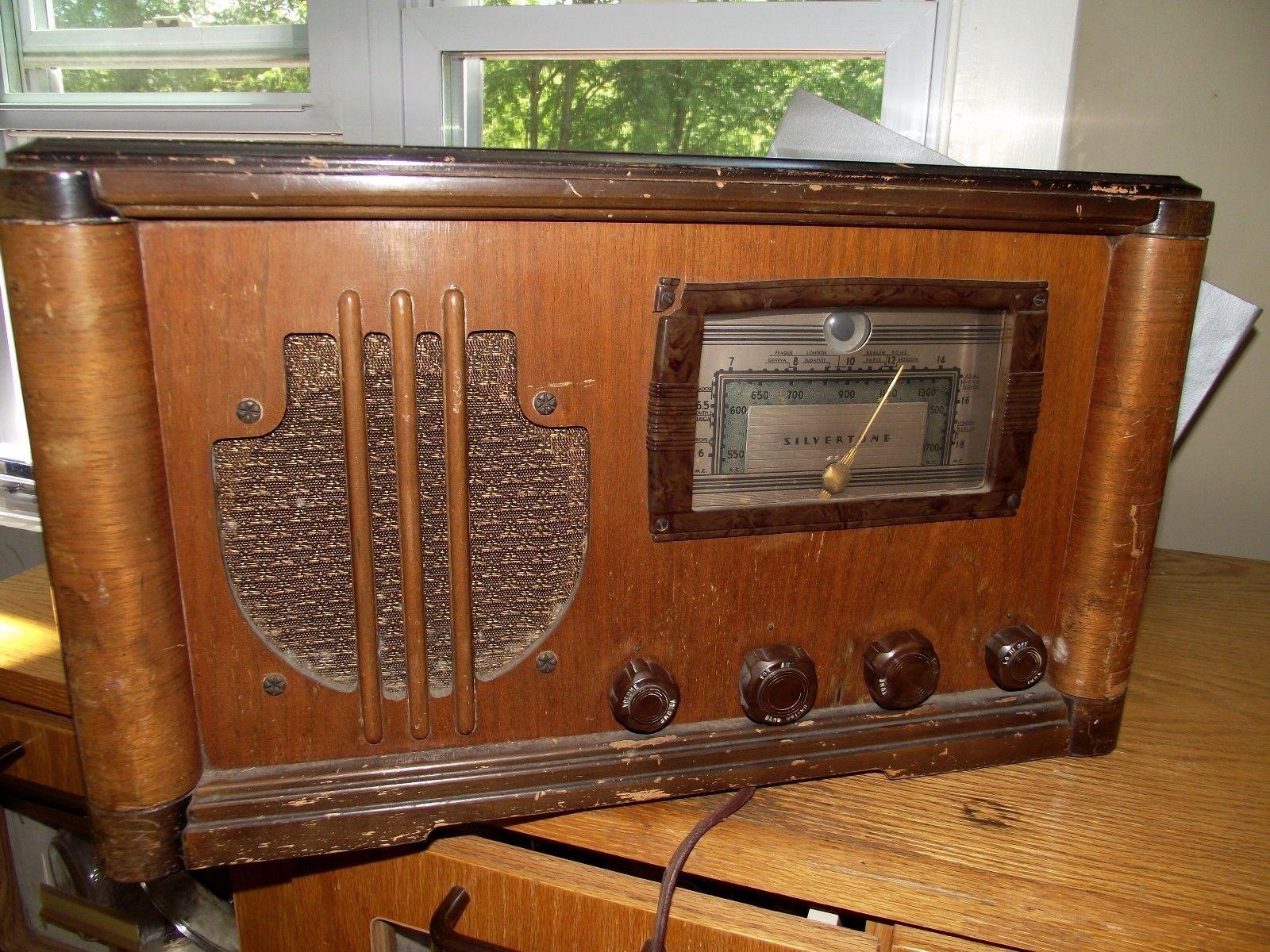 Vintage Silvertone Tube Radio 6075 Sears Amp Roebuck Not