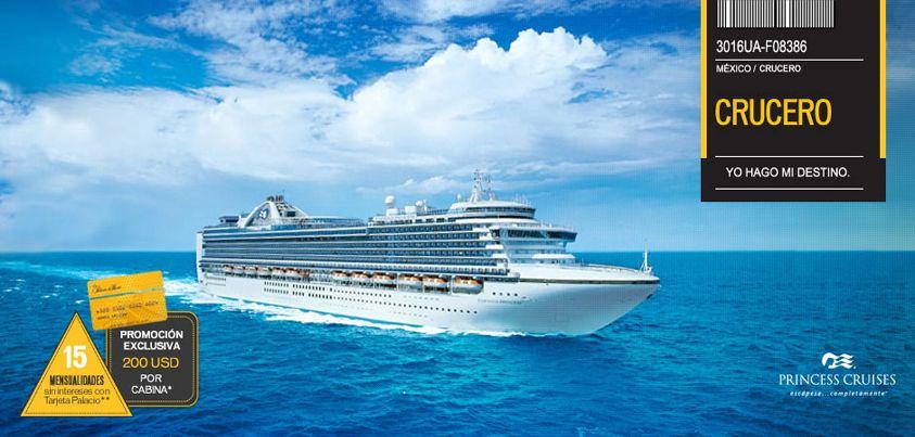 """Sabías que los cruceros """"Princess Cruises"""" nacieron en 1998 y por mucho tiempo fueron considerados como los barco más grandes del mundo y tu te puedes ir en uno de ellos a Alaska"""