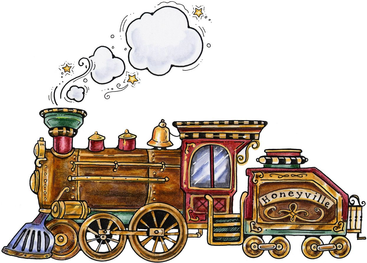 Vintage train clip art