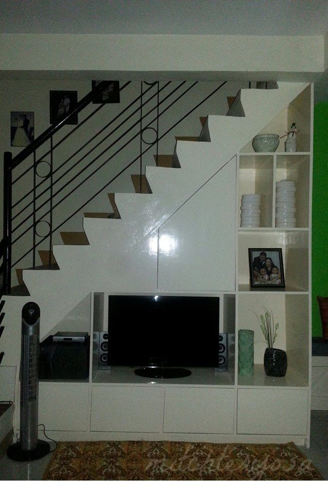 tv cabinet under the staircase home improvement