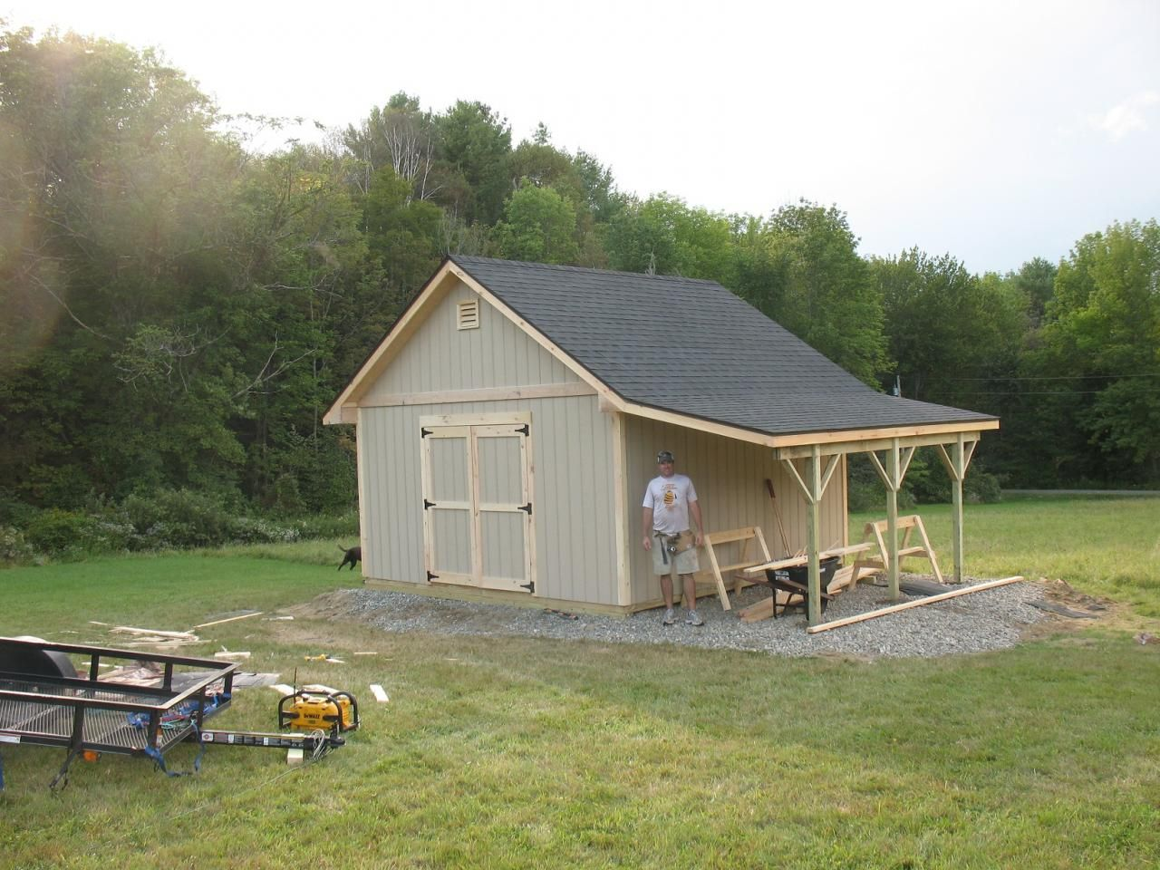 Wood storage sheds shed pinterest wood storage for Outside buildings design