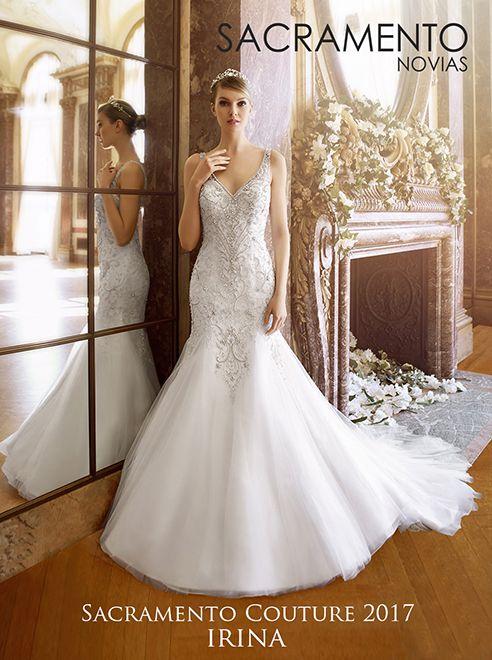 sacramento novias, vestido de novia. modelo irina, vestido corte