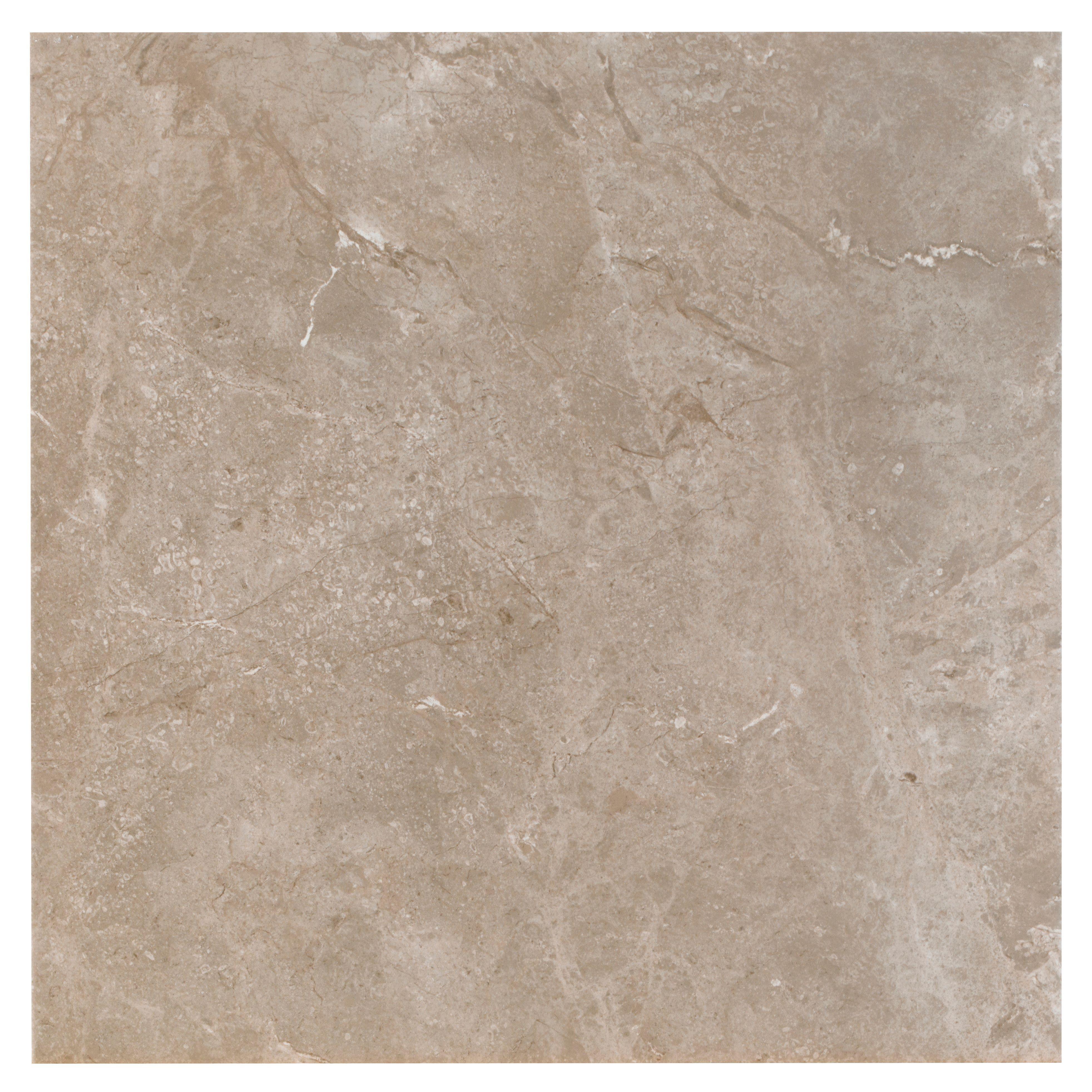 Burlington Limestone Earth Riven Stone Effect Ceramic Wall Floor Tile Pack Of 4 L 498mm W 498mm Tile Floor Luxury Vinyl Click Flooring Ceramic Floor Tile