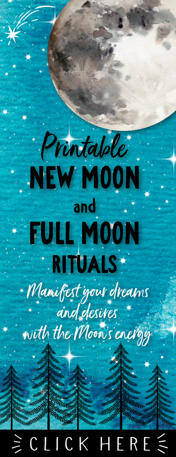 Printable New Moon & Full Moon Rituals • Moon Manifesting • Law of Attraction Planner • Moon Magic • Lunar Cycle #newmoonritual Create your monthly New Moon and Full Moon Rituals with these lovely printable sheets! The Moon's power can help you manifest your deepest desires and life goals and these ritual sheets help you go through the steps to create the life you really want! #newmoon #fullmoon #moonritual #manifestation #universe #dreams #magic #newmoonritual