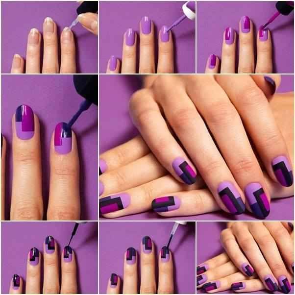 DIY Nail Project: Chic Mod Mani Nail Art   nail art   Pinterest ...