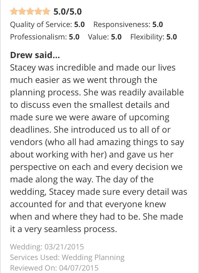 Client Testimonials #Dowhatyoulove #Lovewhatyoudo #peacockpremierevents #weddingplanner #eventplanner