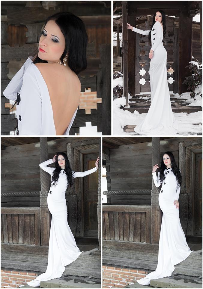 wedding, ice, snow, white, bride dress