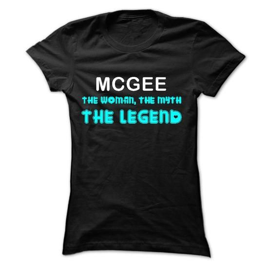 MCGEE - The Woman The Myth The Legend - #gift box #cool gift. TAKE IT => https://www.sunfrog.com/Names/MCGEE--The-Woman-The-Myth-The-Legend-Ladies.html?68278