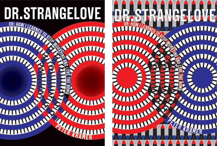 Marian Bantjes, Dr. Strange Love reissue design. One on left used, but she preferred the one on right.